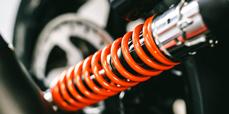 orange shock absorber
