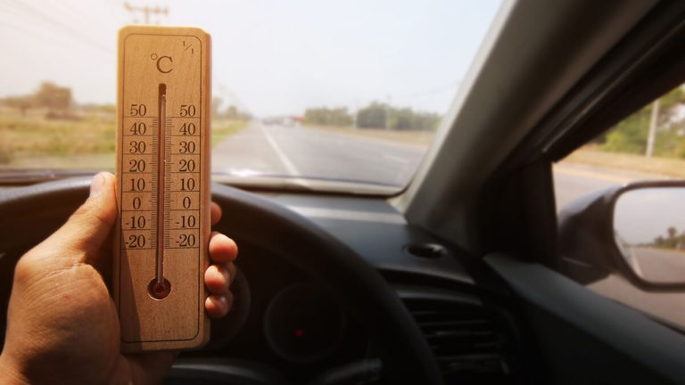 temperature in car
