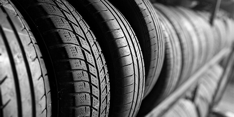 Row of Tyres